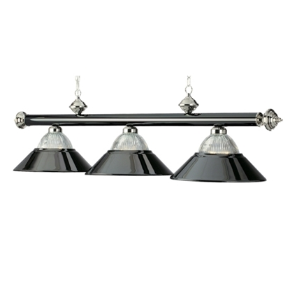"Image de B48-RIB BKCH/CH | 3 LT-54"" BILLIARD LIGHT-BLACK CHROME & CHROME"
