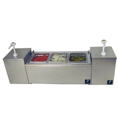 Picture of 5036200S-Paragon Pro-Series Condiment Server with Twin Pumps Combo Unit