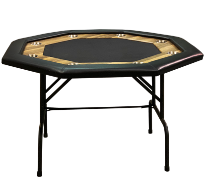 Picture of 15114 Octagonal Supreme poker table with racetrack  8 players