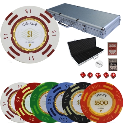 Picture of 12785 - CUSTOM SET - Poker chips set CASH CLUB series 14gr 500pcs
