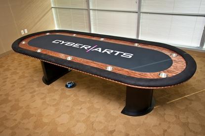 Image de Table sur mesure de poker Standard avec contour en bois
